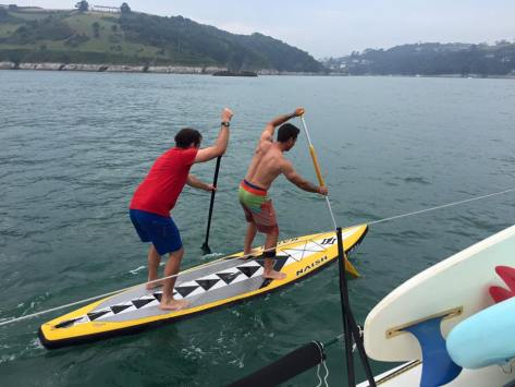 Nick and Rob tandem paddling
